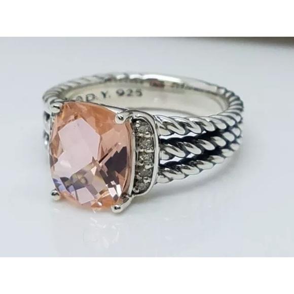 7aaac6203a7 David Yurman Jewelry - David Yurman Petite Wheaton Morganite Ring Size 8